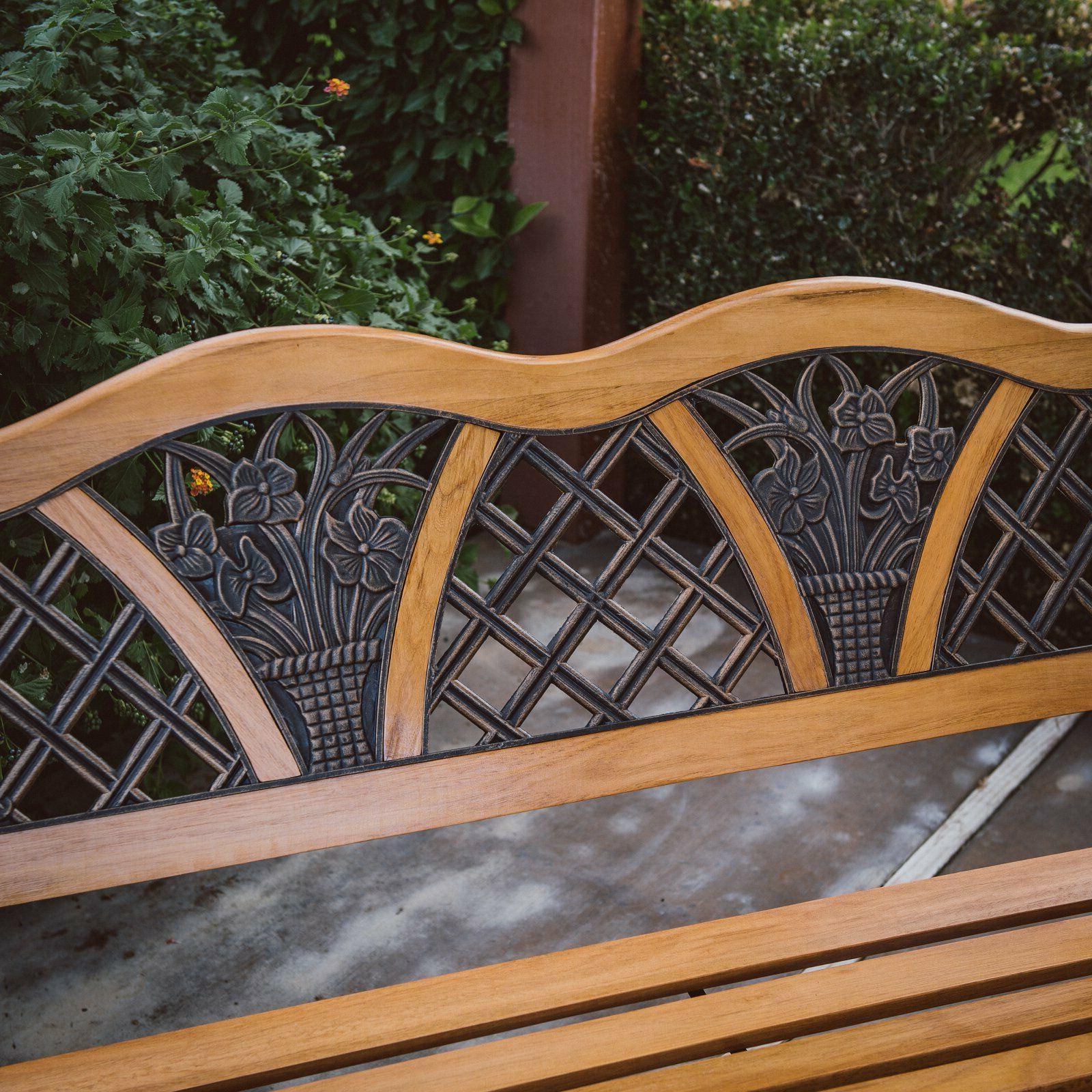Outdoor Wooden Garden Park Deck Poolside Loveseat
