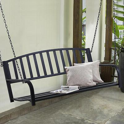 outsuny porch swing steel 2 person seating