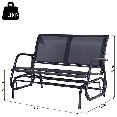Outsunny Patio Person Porch Love Chair