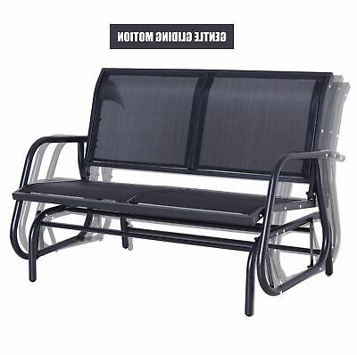 Outsunny Person Bench Porch Love Swing Chair