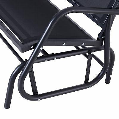 Outsunny 2 Person Glider Bench Porch Chair