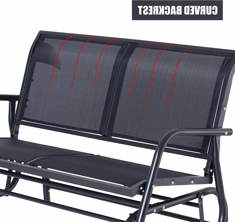Outsunny Patio Person Bench Rocker Porch Swing Chair