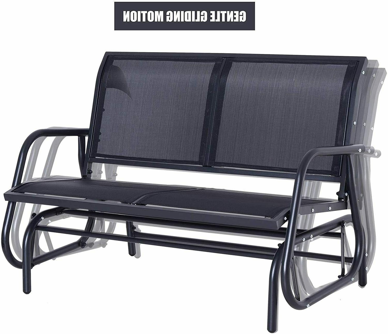 Outsunny Person Glider Bench Porch Seat Swing Chair