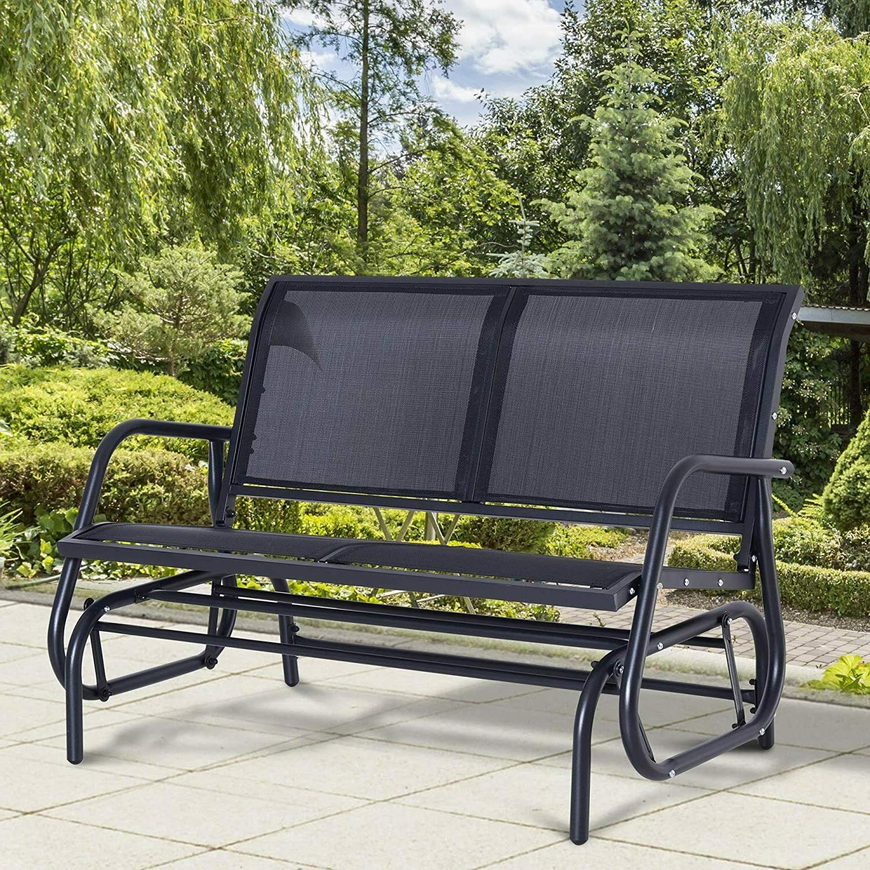 patio double 2 person glider bench rocker