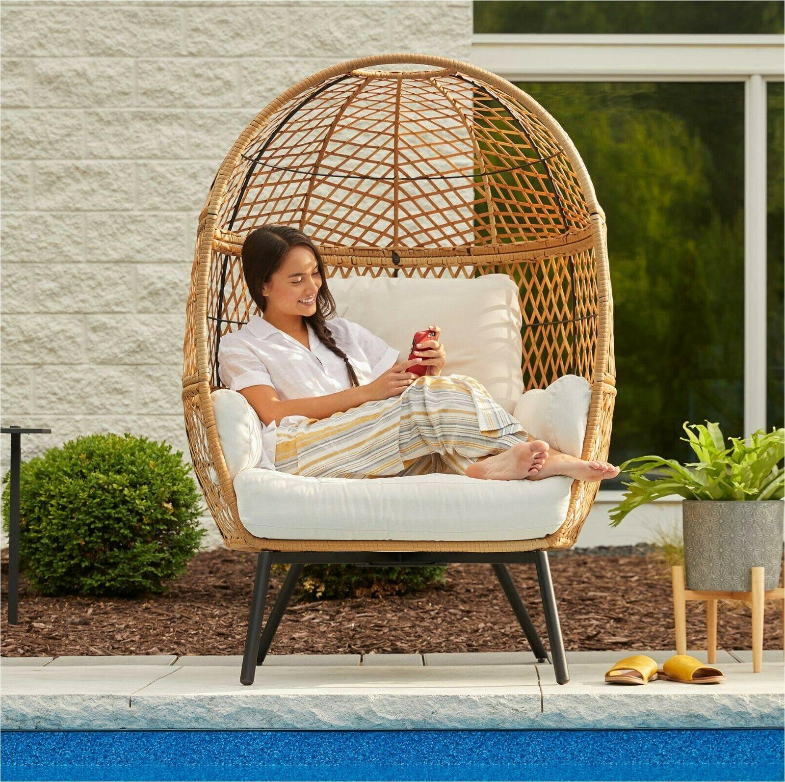 Patio Egg Wicker With Legs Large Chairs