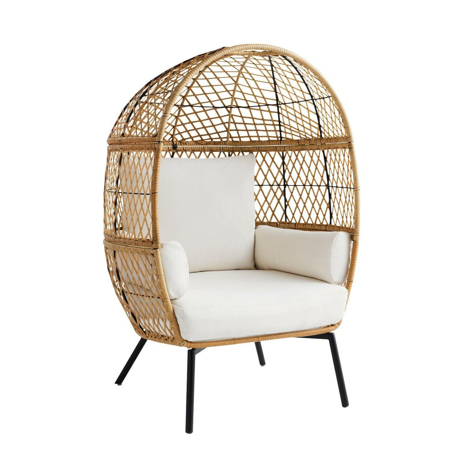 Wicker Egg Legs Chairs
