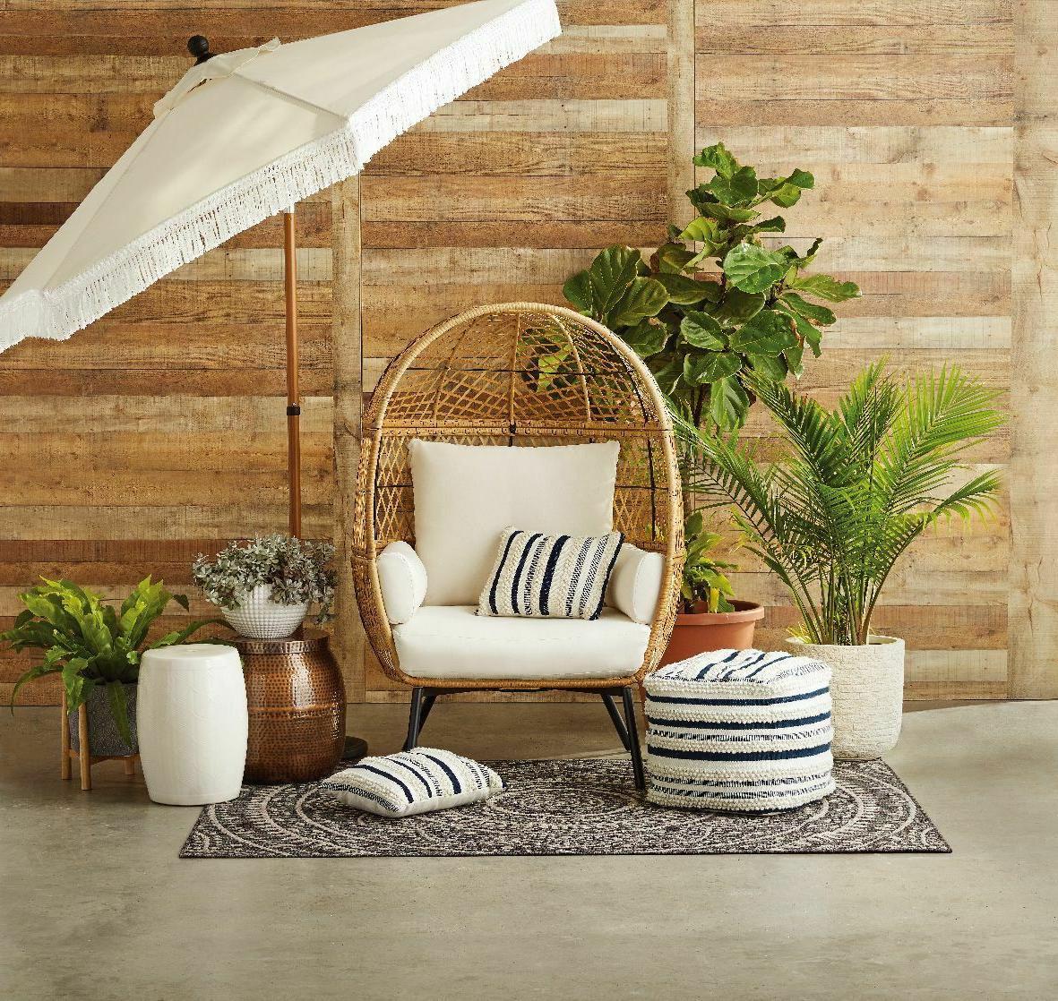 patio egg chair porch wicker egg chair