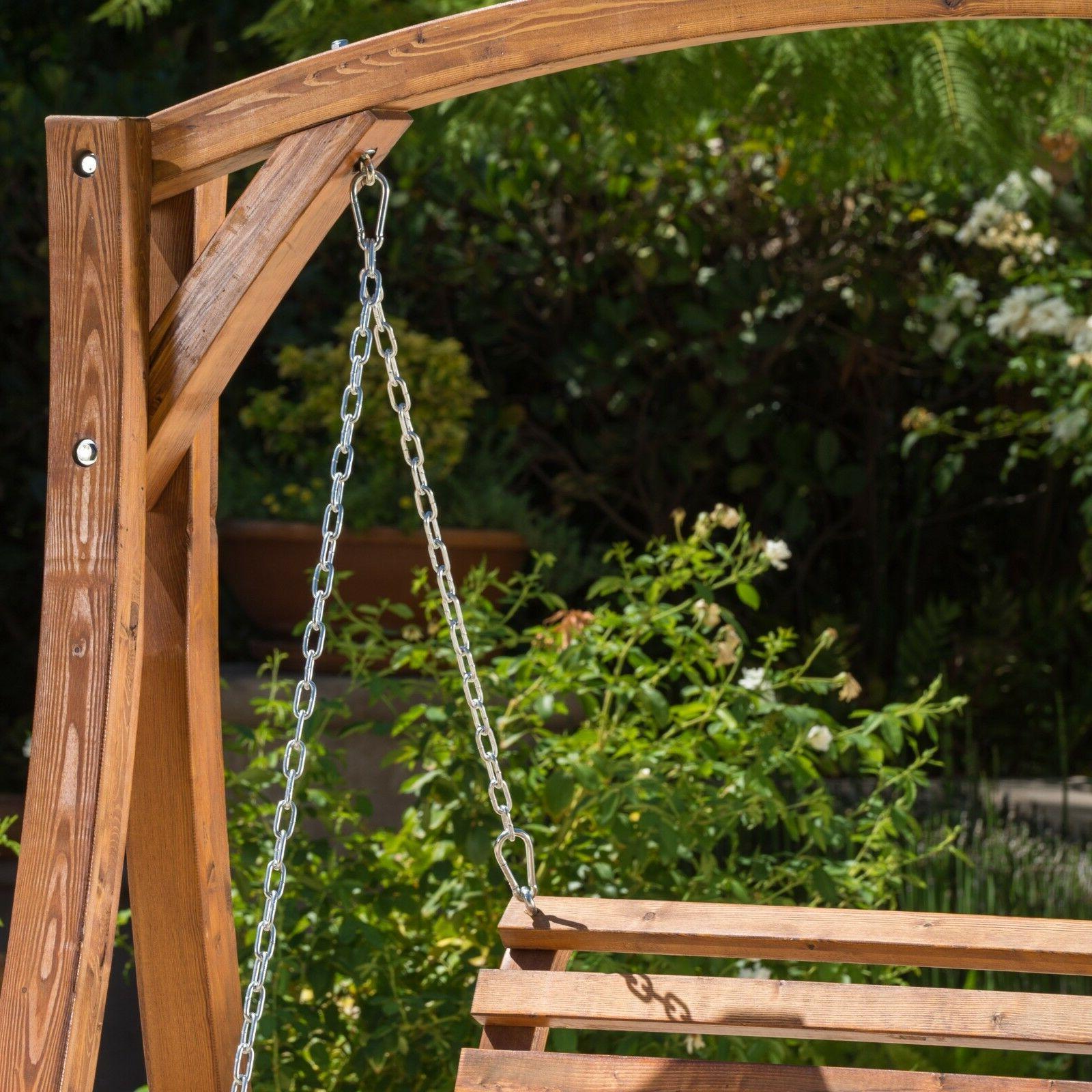 Outdoor Patio Wood Swinging Base