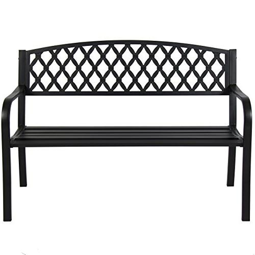 Best Choice Products Steel Outdoor Patio Park Bench Chair Yard -