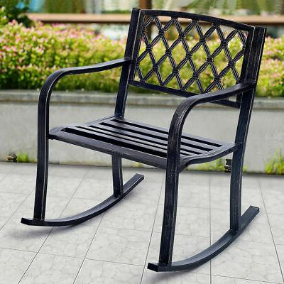 patio metal rocking chair porch seat deck