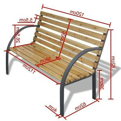Patio Porch Chair Cast Hardwood Outdoor US