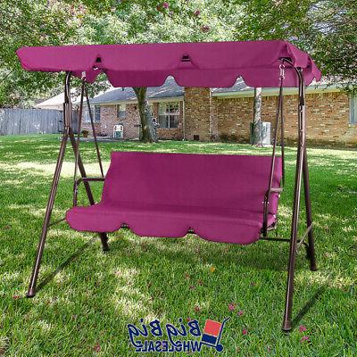 Patio Porch Swing Canopy Chair Outdoor 3-Person