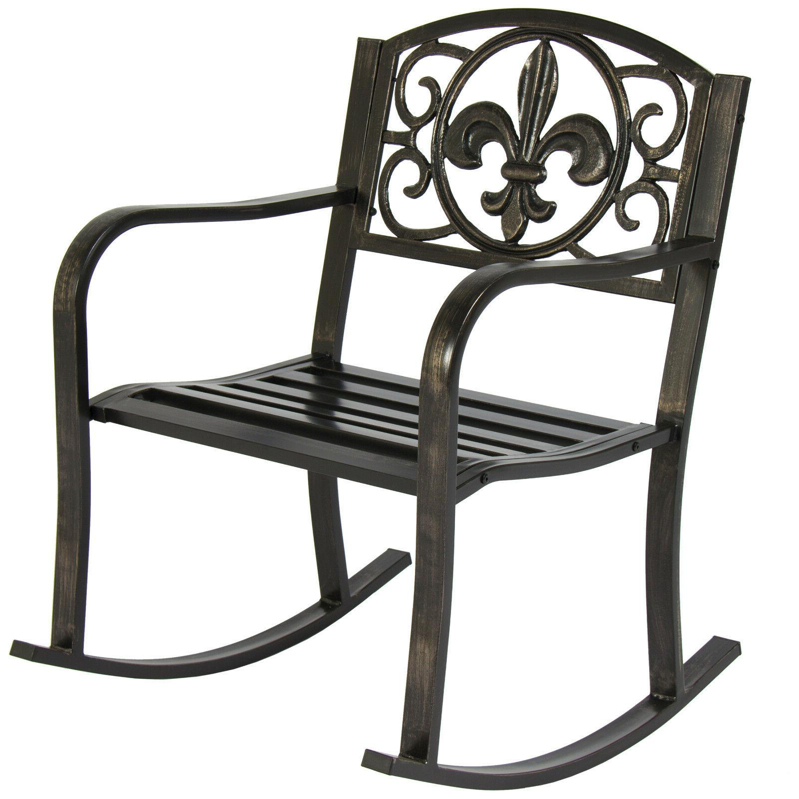 patio rocking chair metal outdoor porch furniture