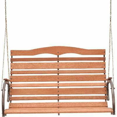 48 high back wood porch swing