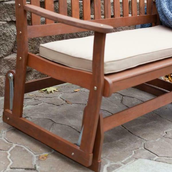 Porch Rustic Loveseat Glider Outdoor Furniture