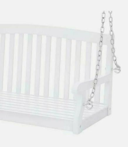 Porch Swing 48in Hanging Bench Metal Chains