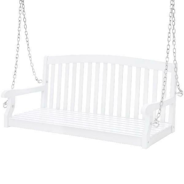 porch swing 48in wooden hanging patio bench