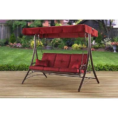 porch swing callimont park 3 seat canopy