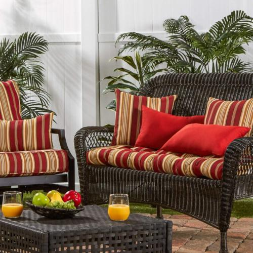 Porch Outdoor Pillow Seat Stripe