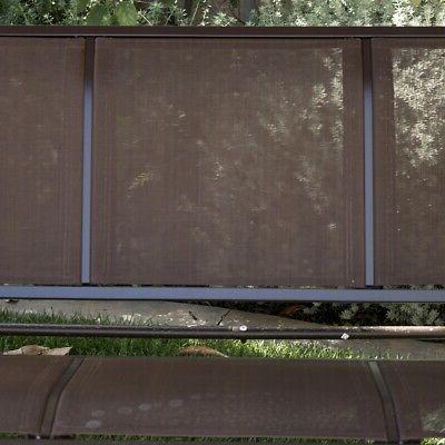 Porch Swing Chair Tilt 3 Sunshade Brown