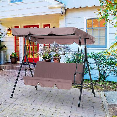 porch swing hammock bench lounge chair steel