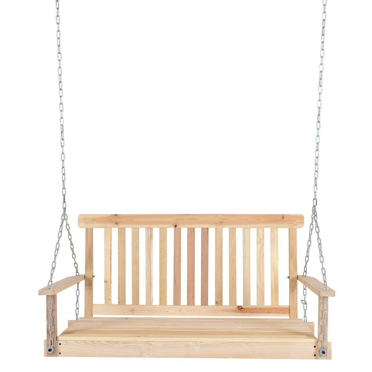 Porch Hanging Swings Patio Seat Foot Bench