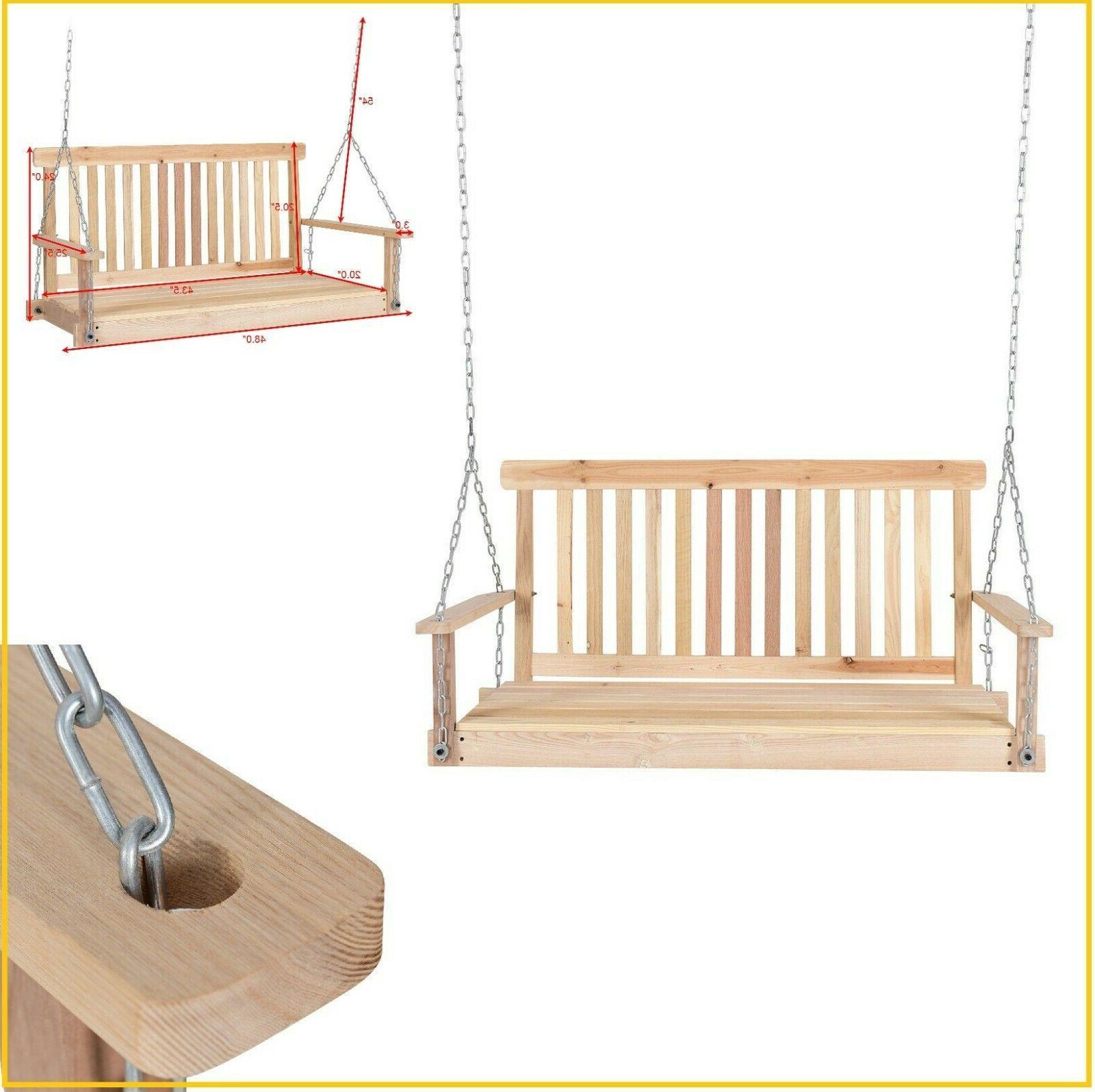 porch swing hanging wood swings patio furniture