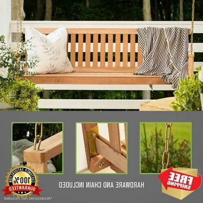 Porch Natural 4ft Wood Garden Bench