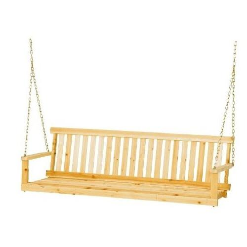 5 Foot Porch Swing Patio Seat Wood Bench Outdoor Furniture C
