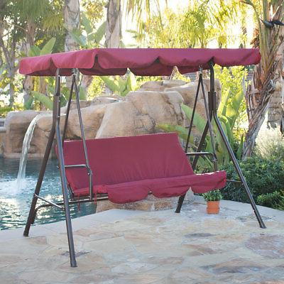 porch swing soft cushioned sunlight protection 3