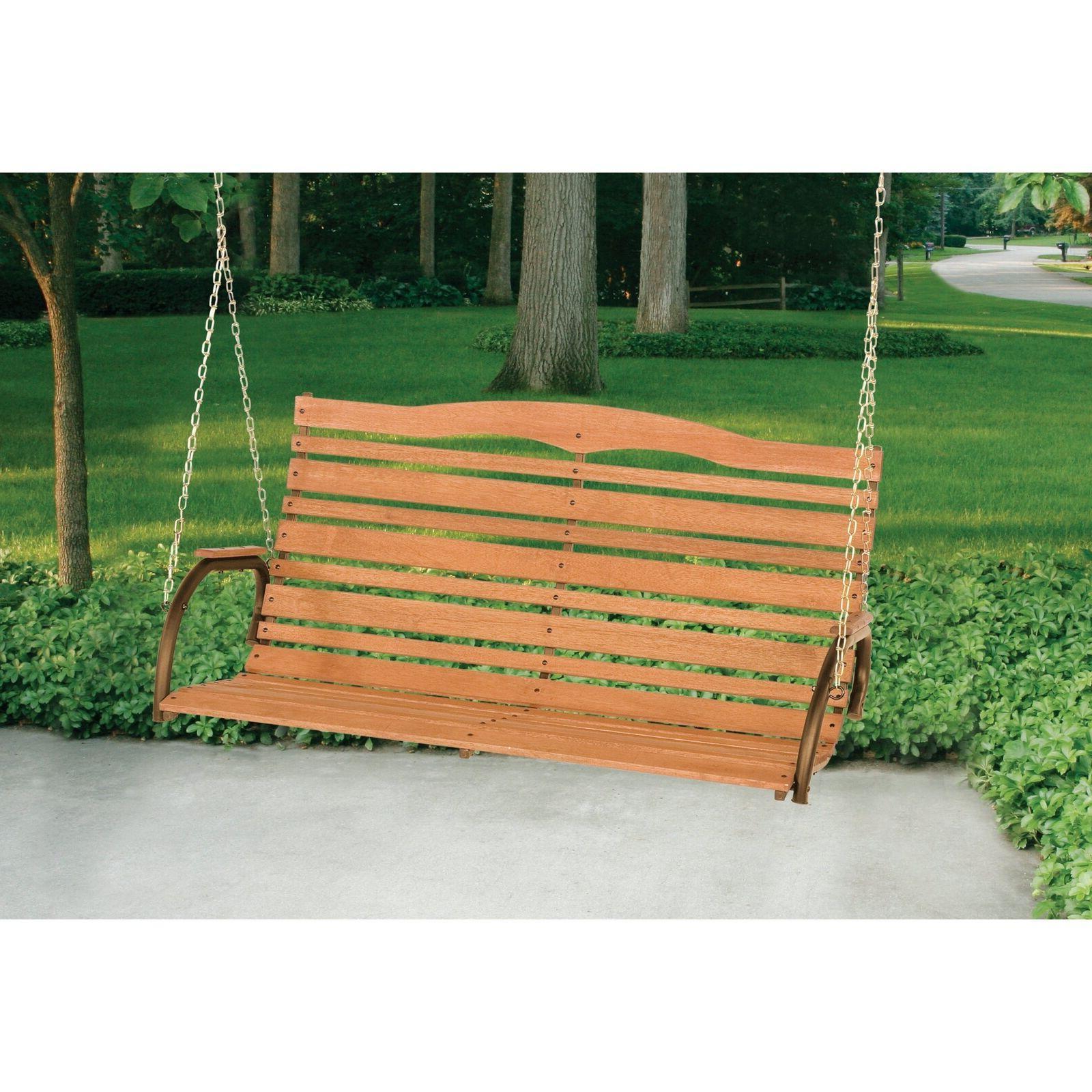 Porch Swings Solid Wood Kit Loveseat Patio Backyard
