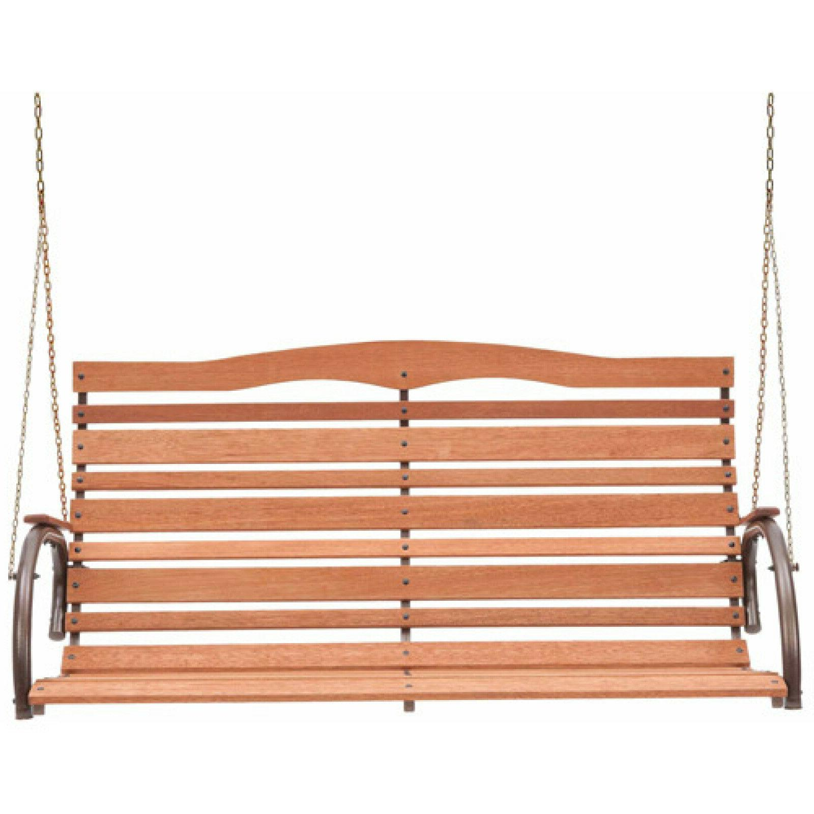 Solid Wood Hanging Loveseat Patio