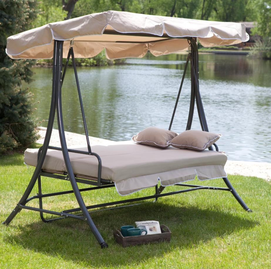 Porch Swing Stand Outdoor Convertible Hammock Patio Bed Fram