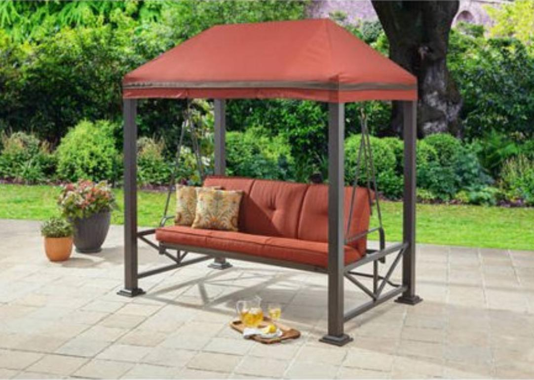 porch swings outdoor clearance metal patio cover