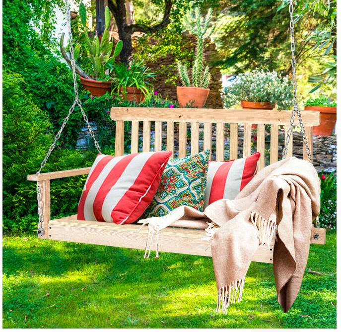 relaxing hanging seat porch swing 2 person