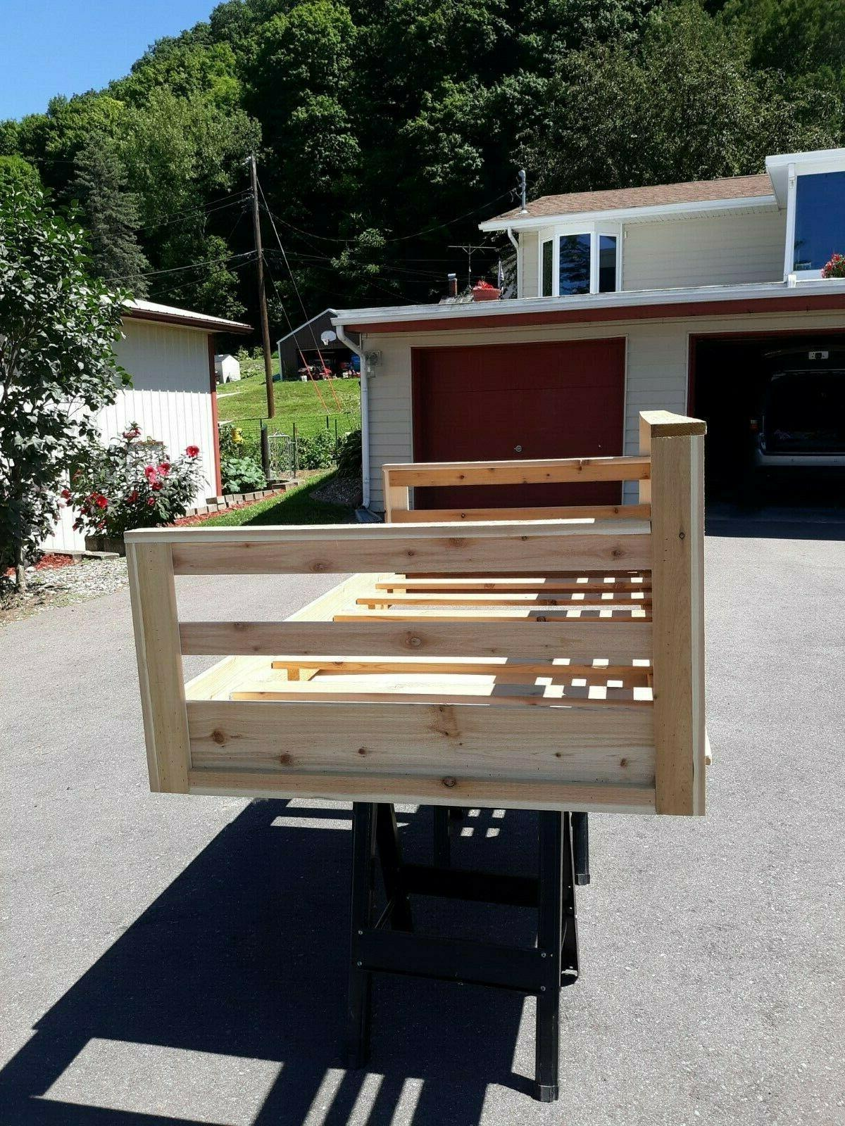 Roughsawed Porch Sized Bed