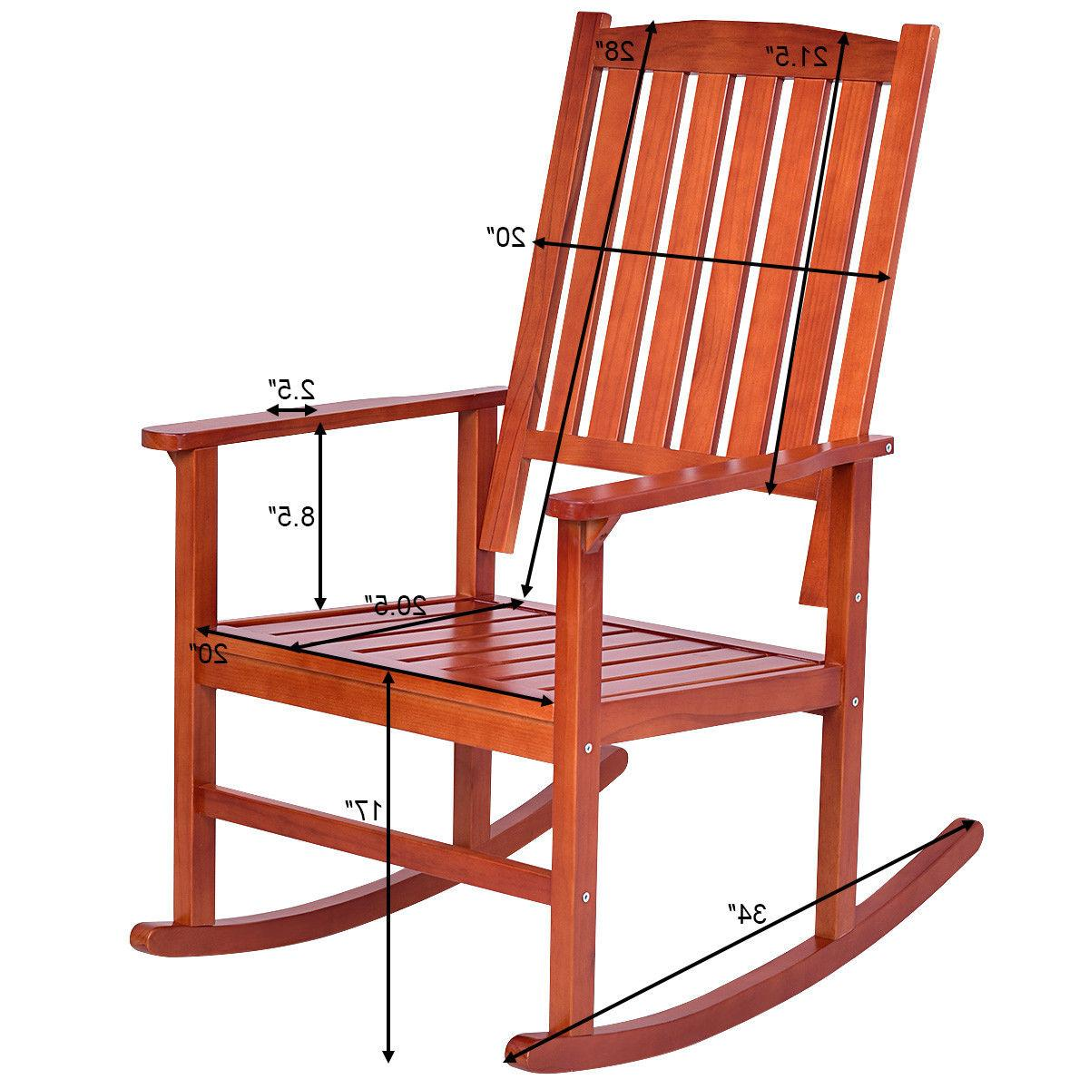 Set of Rocking Chair Rocker Indoor Patio Furniture New