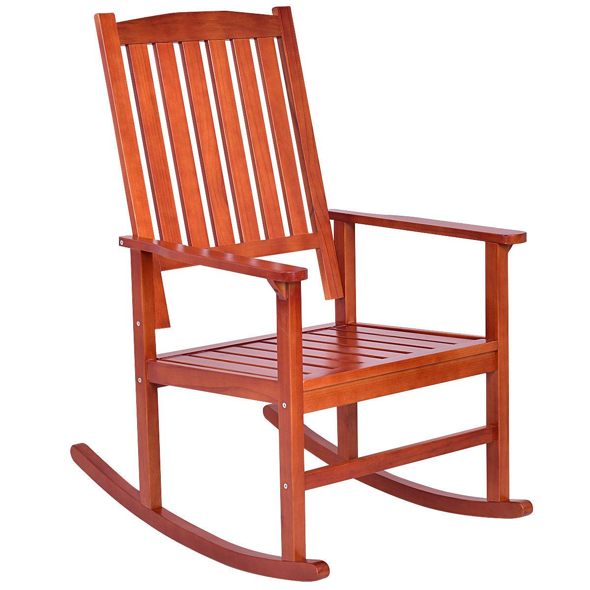 Set of 2 Rocking Chair Porch Indoor Outdoor Furniture