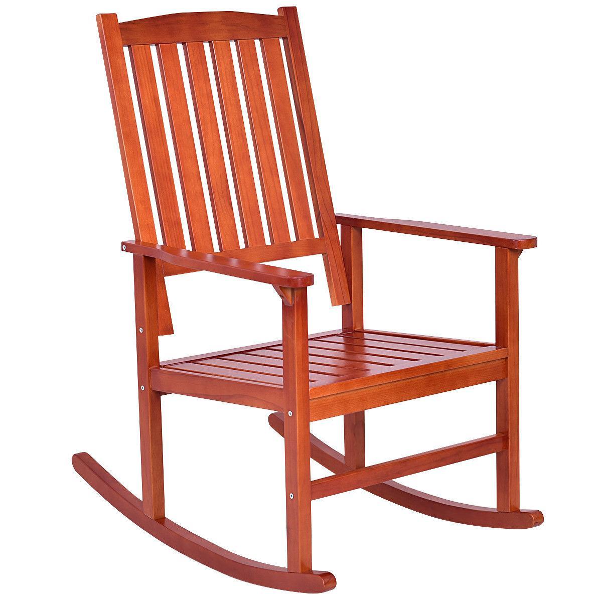 Set of 2 Rocking Chair Porch Indoor Outdoor Furniture