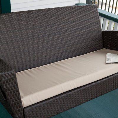soho wicker porch swing with free cushion