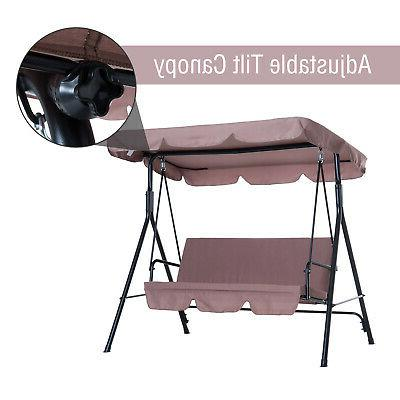 Outsunny Swing Bench Chair Person with Top Canopy