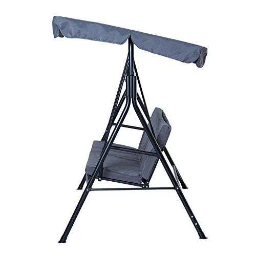 Outsunny Steel Swing Chair Person with - Grey