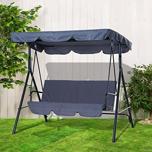Outsunny Swing 3 Person with -