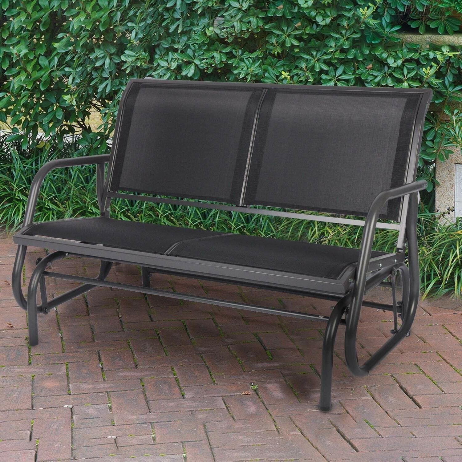 swing glider bench double seat rocking chair