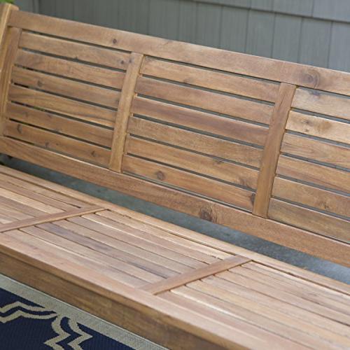 Swing, Porch Swing, Yard Swing, 5 Outdoor Horizontal Swing Acacia Wood Finish