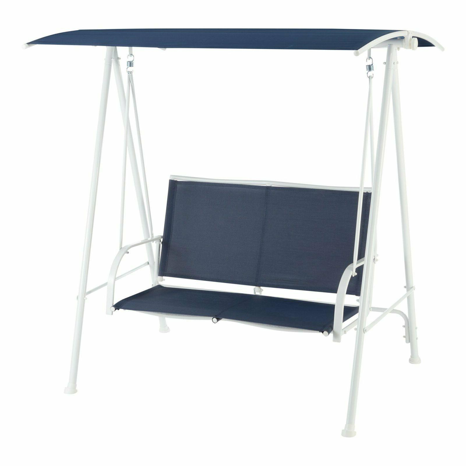 two person cushioned canopy porch