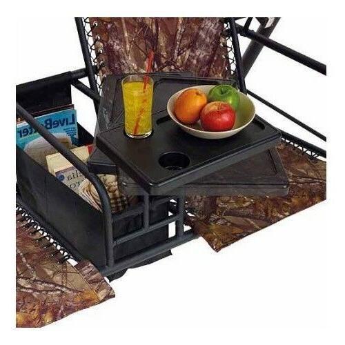 Two Swing Pivoting Porch Furniture 6 Patio Camo