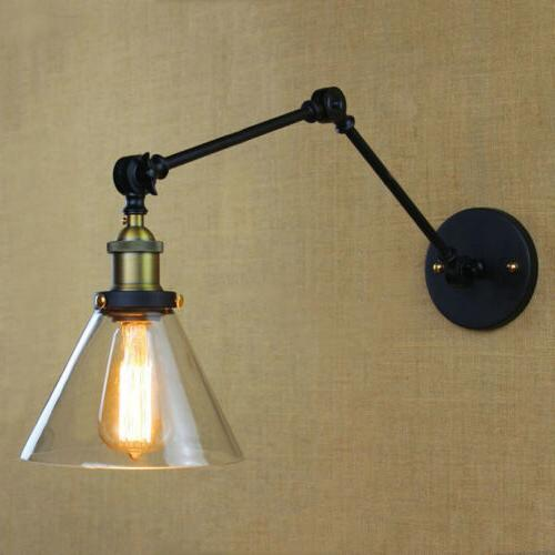Vintage Swing Glass Wall Sconce Wall Lamp
