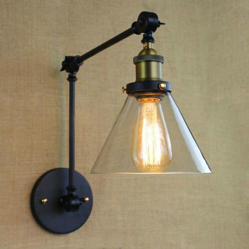 Vintage Industrial Swing Glass Lamp