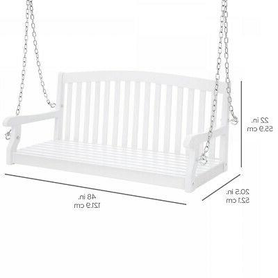 Weather-Resistant Acacia Wood Swing
